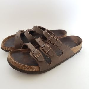 3 strap brown birkenstock sandals